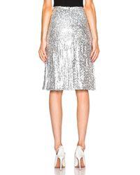 Nina Ricci - Gray Sequin Skirt - Lyst