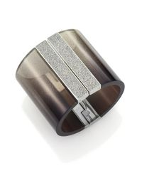 Michael Kors - Metallic Cityscape Shimmer Wide Cuff Bracelet - Lyst