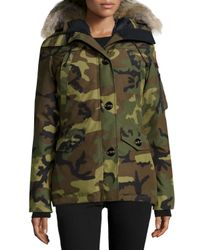 Canada Goose - Green Montebello Parka With Fur Hood for Men - Lyst