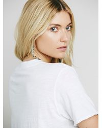 Free People | White We The Free 757 Tee | Lyst