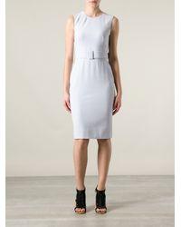 Alexander McQueen | Pink Belted Shift Dress | Lyst