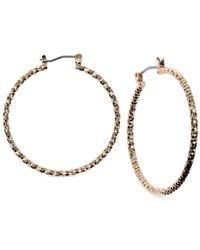 Jones New York - Metallic Medium Hammered Hoop Earrings - Lyst