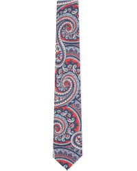 Eton of Sweden | Blue 70 Large Scale Paisley Silk Tie for Men | Lyst