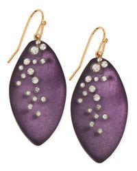 Alexis Bittar - Blue Medium Crystal-Dust Lucite Leaflet Earrings (Made To Order) - Lyst