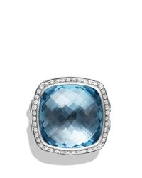 David Yurman | Albion Ring With Blue Topaz And Diamonds | Lyst