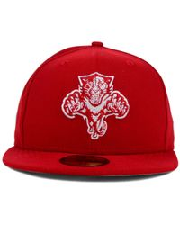 KTZ   Red Florida Panthers C-dub 59fifty Cap for Men   Lyst