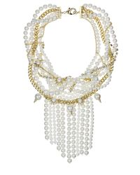 Sam Edelman - White Goldtone Chain Pearl Collar Necklace - Lyst