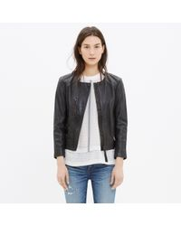 Madewell | Black Metropolis Leather Jacket | Lyst