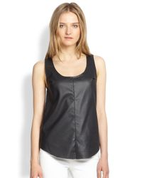 Townsen Gray Rookie Perforated Faux-Leather Tank