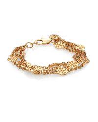 Tory Burch | Metallic Multi-Strand Logo Bracelet | Lyst