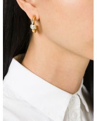 Chloé | Metallic 'Darcy' Pearl Earrings | Lyst