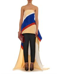 Rosie Assoulin | Black Slim-fit Cotton-faille Trousers | Lyst