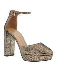 Banana Republic | Metallic Villa Platform Pump | Lyst