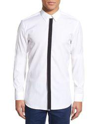 HUGO - White Boss 'endrios' Slim Fit Long Sleeve Sport Shirt for Men - Lyst