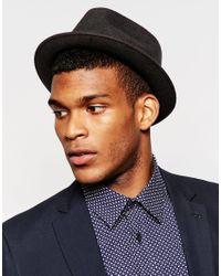 Catarzi - Gray Pork Pie Hat for Men - Lyst