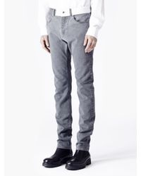 McQ - Gray Washed Denim Jeans for Men - Lyst