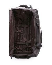 "Lipault - Gray Foldable 2 Wheeled 27"" Duffel Bag - Grey - Lyst"