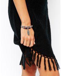 ASOS | Multicolor Feather Arrow Bracelet Pack | Lyst