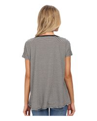 Volcom | Black Lived In Stripe Tee | Lyst