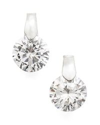 Anne Klein | Metallic Cubic Zirconia Stud Earrings | Lyst