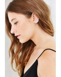 Urban Outfitters | Metallic Hello Hand Ear Climber Earring | Lyst