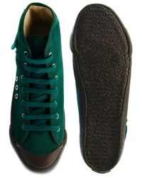 YMC | Green Canvas Mid Trainers for Men | Lyst