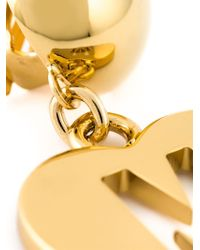 Moschino | Metallic Heart Clip On Earrings | Lyst