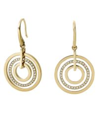 Michael Kors | Metallic Circle Drop Earrings | Lyst