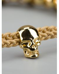 Alexander McQueen - Metallic Skull Friendship Bracelet - Lyst