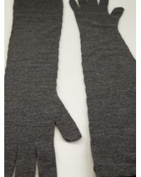 Dolce & Gabbana - Gray Elbow Length Gloves - Lyst