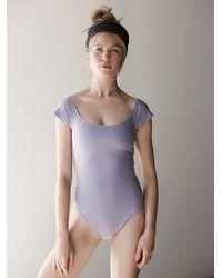 Free People - Purple Neo Bodysuit - Lyst