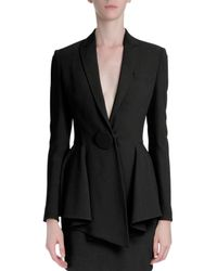 Givenchy - Black One-Button Peplum Jacket - Lyst
