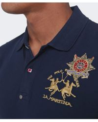 La Martina | Blue Guards Long Sleeve Polo Shirt for Men | Lyst