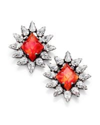 DANNIJO | Pink Neva Crystal Button Earrings | Lyst