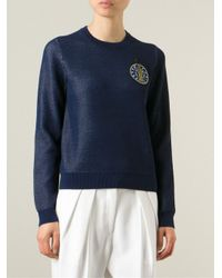 KENZO | Blue Statue Of Liberty Cotton Sweatshirt | Lyst