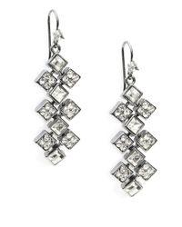 Lauren by Ralph Lauren | Metallic Square Chandelier Drop Earrings | Lyst