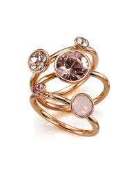 Ted Baker | Pink Jewel Clustered Ring | Lyst