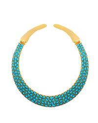 Kenneth Jay Lane - Blue Choker Necklace - Lyst