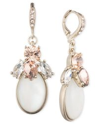 Givenchy | Metallic Gold-tone Mother-of-pearl Crystal Drop Earrings | Lyst