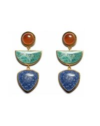 Lizzie Fortunato | Blue Beldi Earrings | Lyst