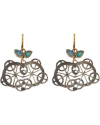 Judy Geib | Metallic Opal, Gold & Oxidized Silver Kaleidoscope Earrings | Lyst