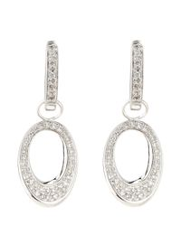 KC Designs | Metallic 14k Diamond Pave Oval Earrings | Lyst