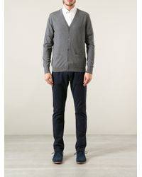 Acne Studios - Gray Button Up Cardigan for Men - Lyst