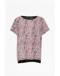 French Connection | Pink Wildcat Polly Top | Lyst