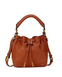 Elliott Lucca | Brown Gigi Leather Drawstring Bucket Bag | Lyst