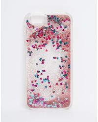 ASOS - Multicolor Iphone 6 And 6s Heart Liquid Glitter Case - Lyst