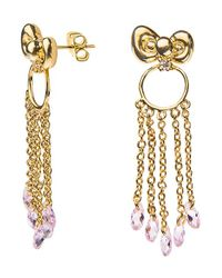 Noir Jewelry - Metallic Hello Kitty Bow Dangle Earring - Lyst