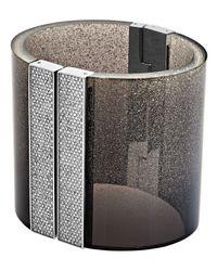 Michael Kors | Black Cityscape Shimmer Wide Cuff Bracelet | Lyst
