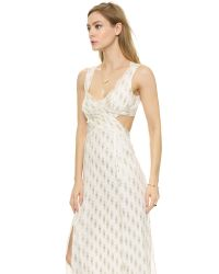 Free People | White Cross My Heart Jacquard Maxi Dress | Lyst