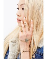 Forever 21 | Metallic Ornate Hand Chain | Lyst